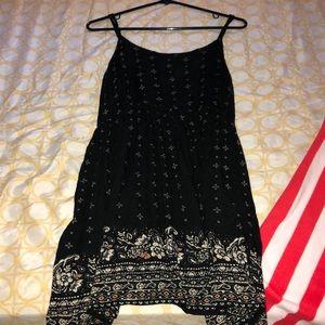 Black floral flowy dress